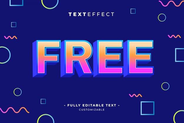 Bearbeitbarer texteffektstilvorlagen-premiumvektor