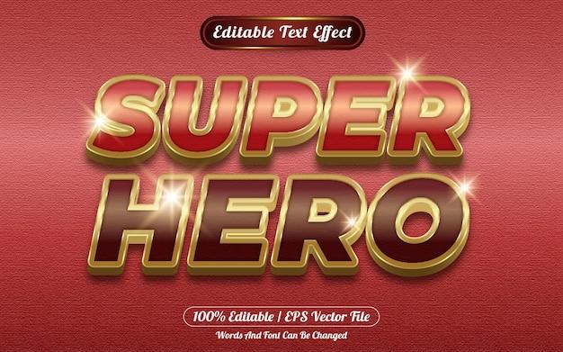 Bearbeitbarer texteffektvorlagenstil für superhelden