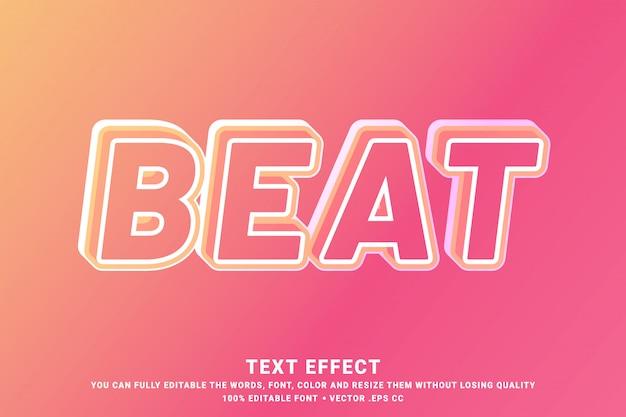 Bearbeitbarer textstil - 3d-beat