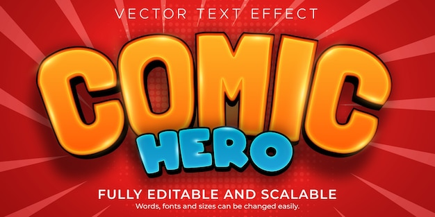 Bearbeitbarer textstil des comic-texteffekt-cartoons