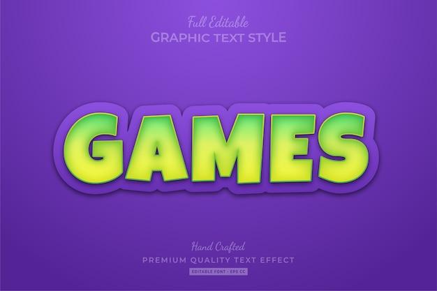 Bearbeitbarer textstil-effekt des cartoon-spiels