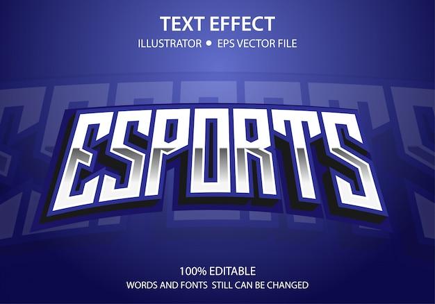 Bearbeitbarer textstil-effekt e-sport
