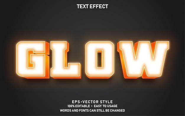 Bearbeitbarer textstil-effekt leuchtet gelb