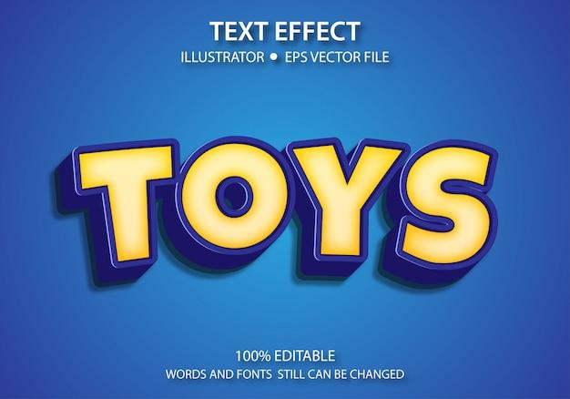Bearbeitbarer textstil-effekt nettes spielzeug premium