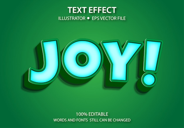 Bearbeitbarer textstil-effekt süße freude
