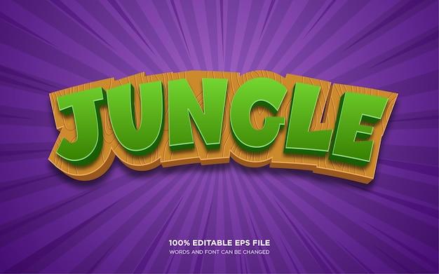 Bearbeitbarer textstil-effekt von jungle 3d