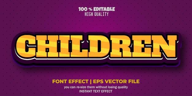Bearbeitbarer textstil für kindertexteffekte