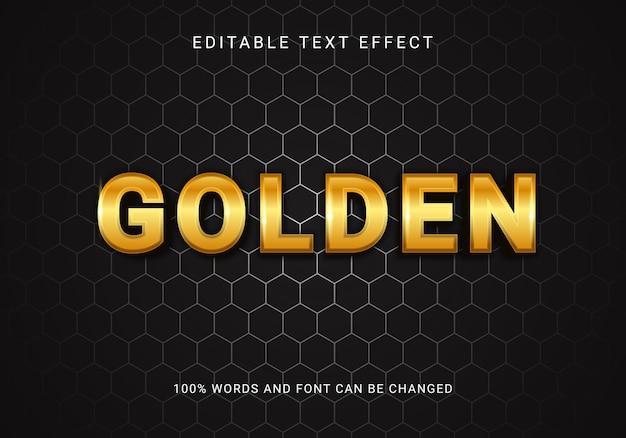 Bearbeitbarer textstil mit goldeffekt Premium Vektoren