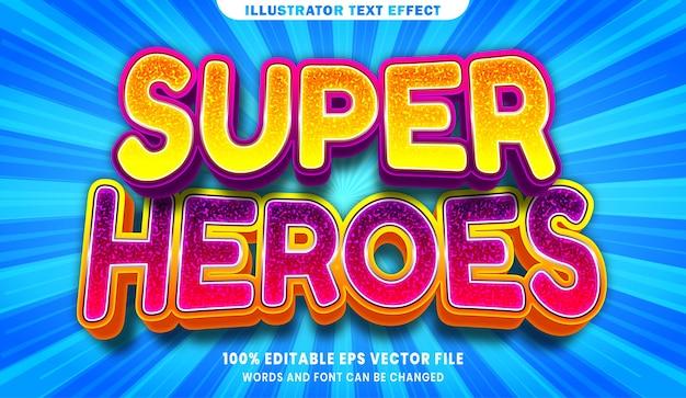 Bearbeitbarer textstileffekt der superhelden 3d