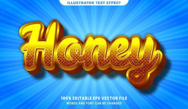 Bearbeitbarer textstileffekt des honigs 3d