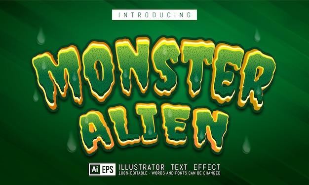 Bearbeitbarer textstileffekt für monster