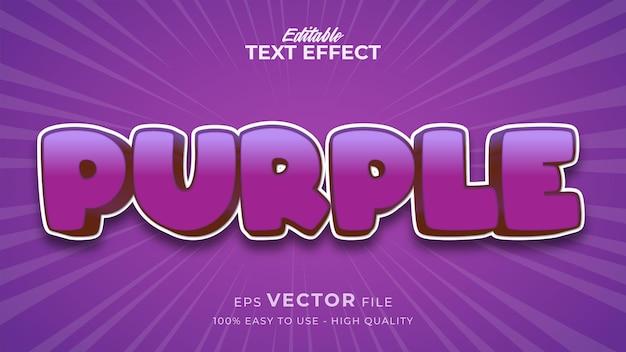 Bearbeitbarer textstileffekt - lila textstil-thema