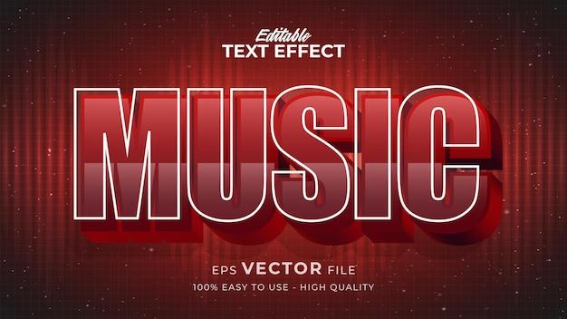 Bearbeitbarer textstileffekt - musik-retro-textstil-thema