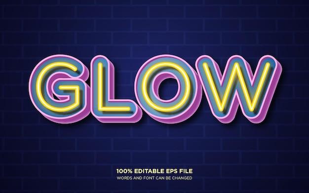Bearbeitbarer textstileffekt neon glow
