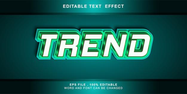 Bearbeitbarer trend für texteffekte
