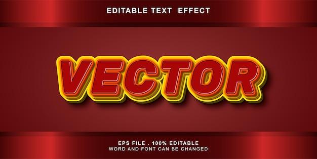 Bearbeitbarer vektor mit texteffekt