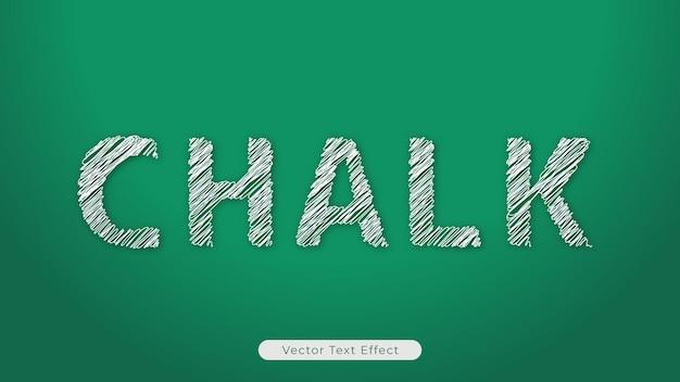 Bearbeitbarer vektortexteffekt von kreide mit brett