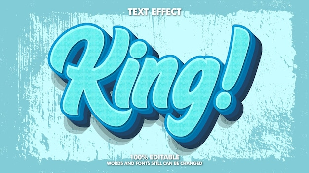 Bearbeitbarer vintage-retro-texteffekt mit grunge-textur