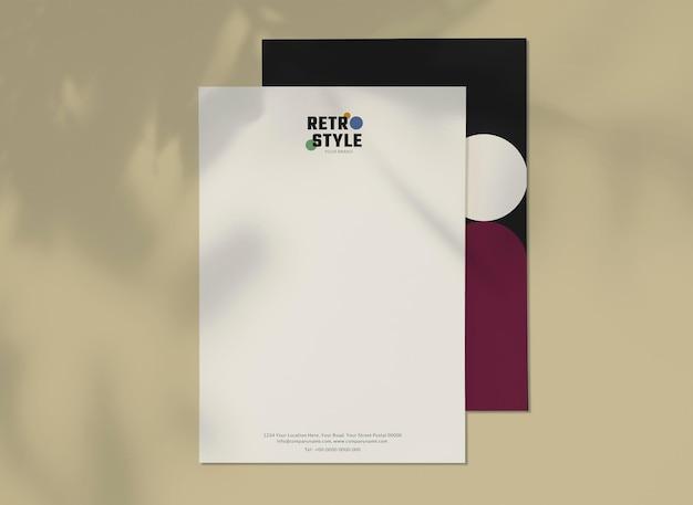 Bearbeitbarer visitenkarten-vorlagenvektor-retro-stil für mode- und schönheitsmarken-set Premium Vektoren
