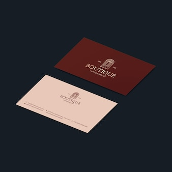 Bearbeitbares corporate identity design der visitenkartenvorlage