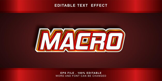 Bearbeitbares makro für texteffekte