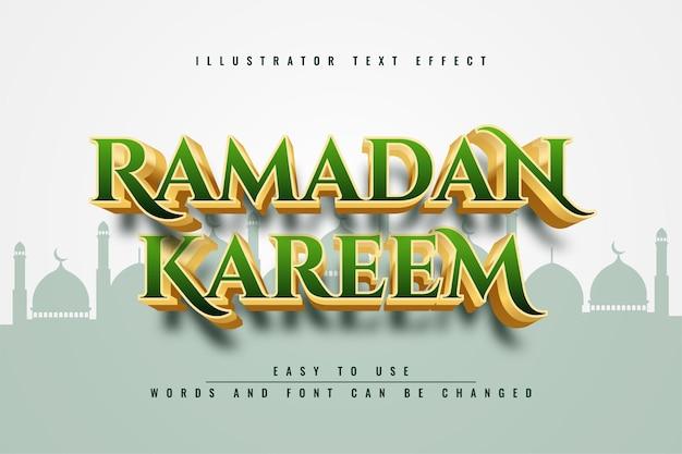Bearbeitbares texteffektdesign von ramadan kareem