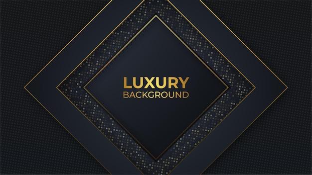 Bearbeitbares vektorbild des schwarzen und goldenen luxushintergrundes
