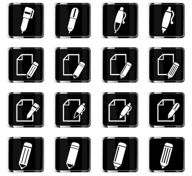Bearbeiten sie websymbole für das design der benutzeroberfläche