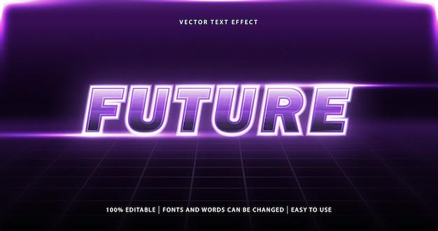 Bearbeitender texteffekt der lila farbe des retro-designstils.