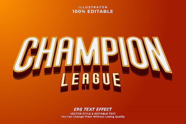 Bearbeitender texteffektstil des kühnen 3d-champions