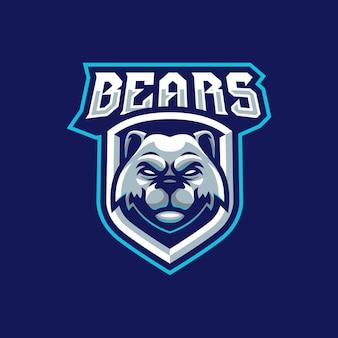Bears maskottchen logo design