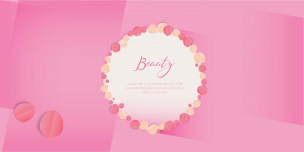 Beauty cartoon hautpflege logo und deckblatt.