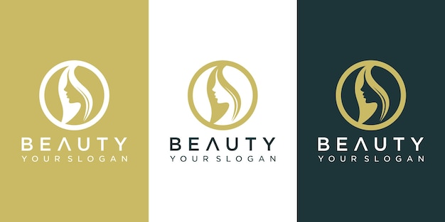 Beauty face logo design.