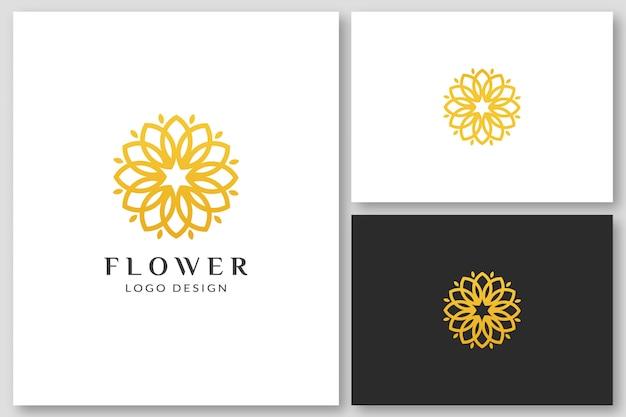 Beauty flower spa logo design-vorlagen