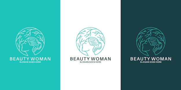 Beauty-frauen-logo-design für ihren business-saloon, spa, kosmetik