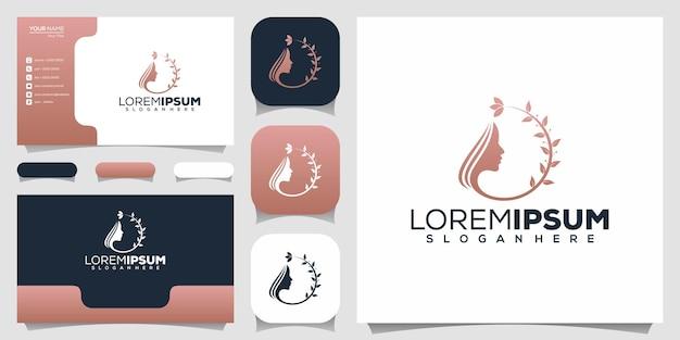 Beauty-hautpflege-logo entwirft vorlage