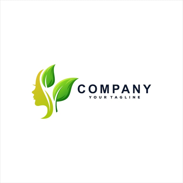 Beauty lady farbverlauf logo-design