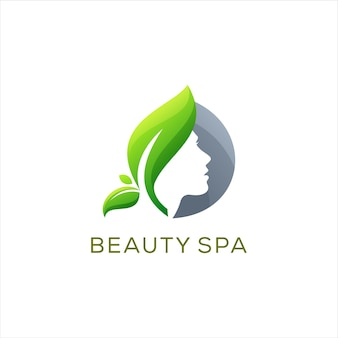 Beauty lady spa logo design