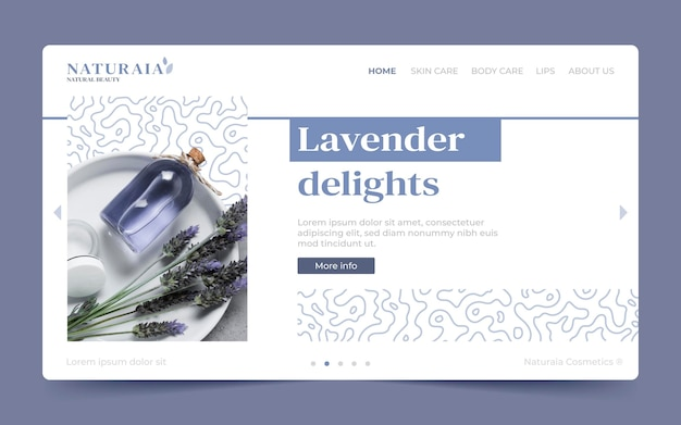 Beauty landing page vorlage