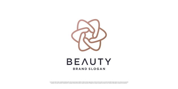 Beauty logo design mit minimalistischem linienkonzept premium-vektor teil 3