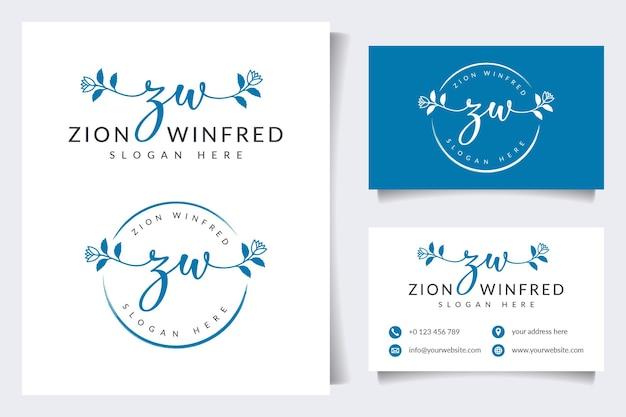 Beauty-logo-sammlungen mit visitenkartenvorlage