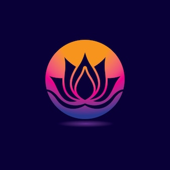 Beauty lotus logo design