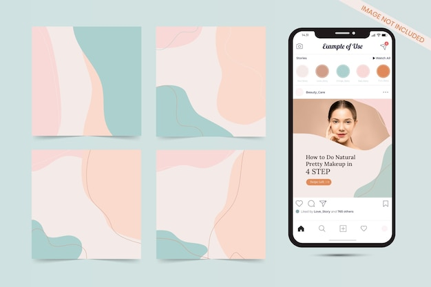 Beauty organic shape social media beitragsvorlage
