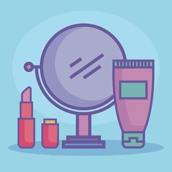 Beauty-produkte drei symbole
