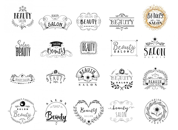Beauty salon abzeichen