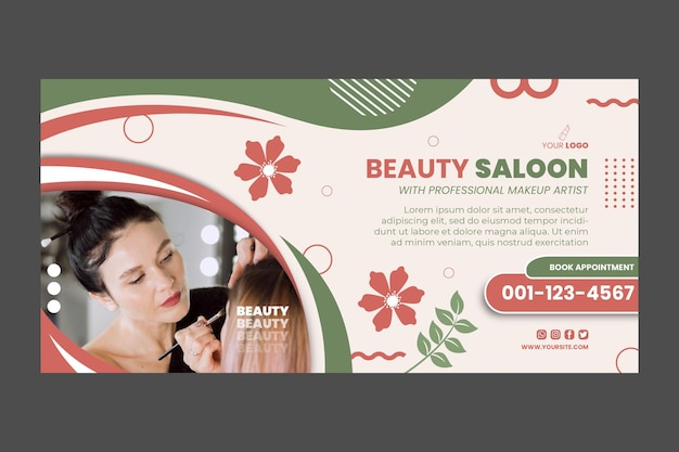 Beauty salon banner vorlage design