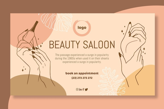Beauty salon banner vorlage