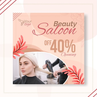 Beauty salon flyer vorlage