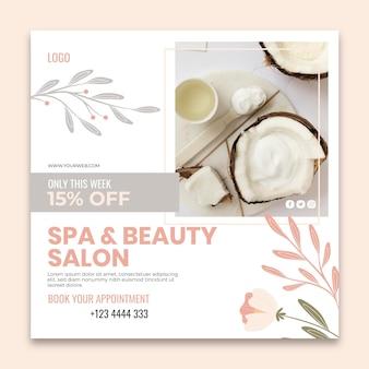 Beauty salon flyer vorlage