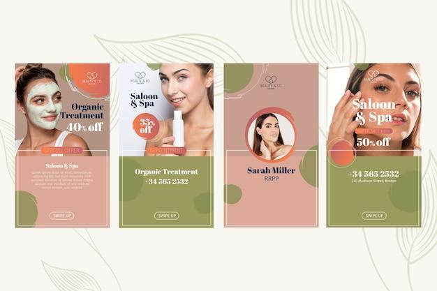 Beauty-salon social-media-geschichten